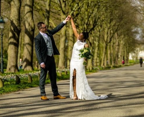Terug voor een trouwreportage in Den Haag